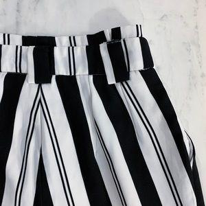 XOXO Pants - Black White Stripe Pants